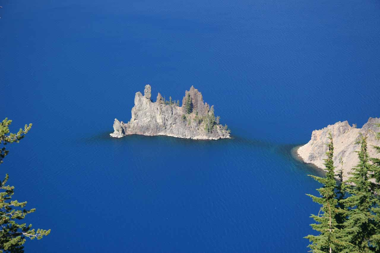 As you can see, there were lots of different ways to see Crater Lake, including this view of a rock protrusion called the Phantom Ship