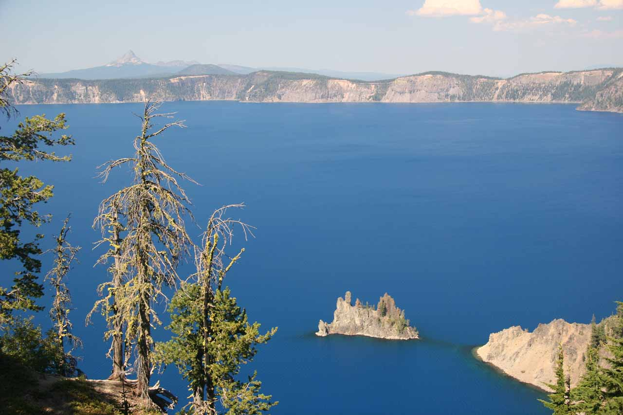 Vidae Falls was pretty close to the short walk for this view of the Phantom Ship, which was one of the most photogenic spots in Crater Lake National Park