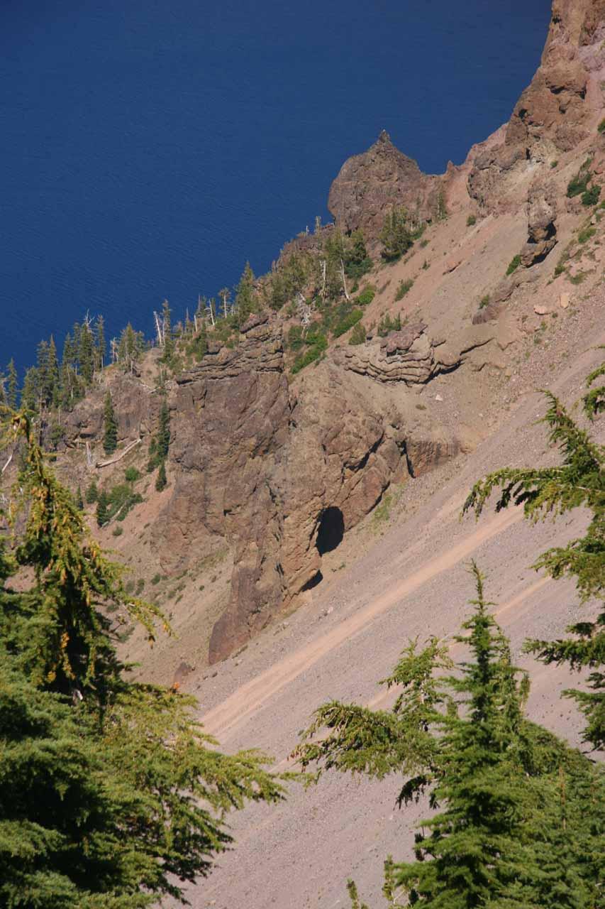 Natural arch at Crater Lake?