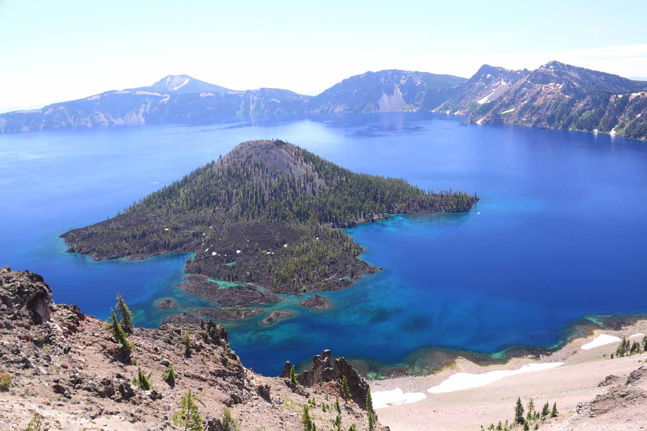 Crater Lake and its sapphire blue waters