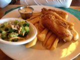 Crater_Lake_Lodge_004_iphone_07152016 - Dad's fish and chips ordered from the Crater Lake Lodge