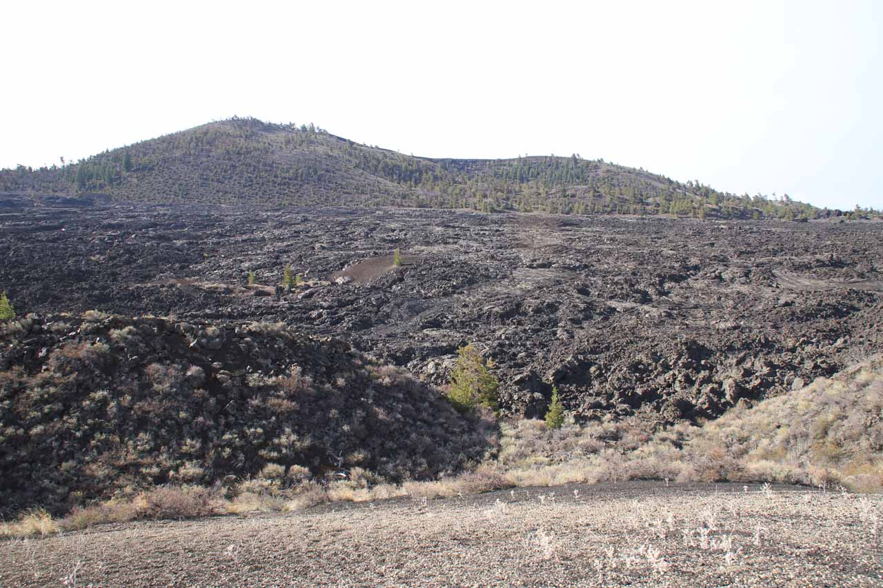 Old lava flow reminding us of the Big Island of Hawaii seen just before we entered the Craters of the Moon National Monument