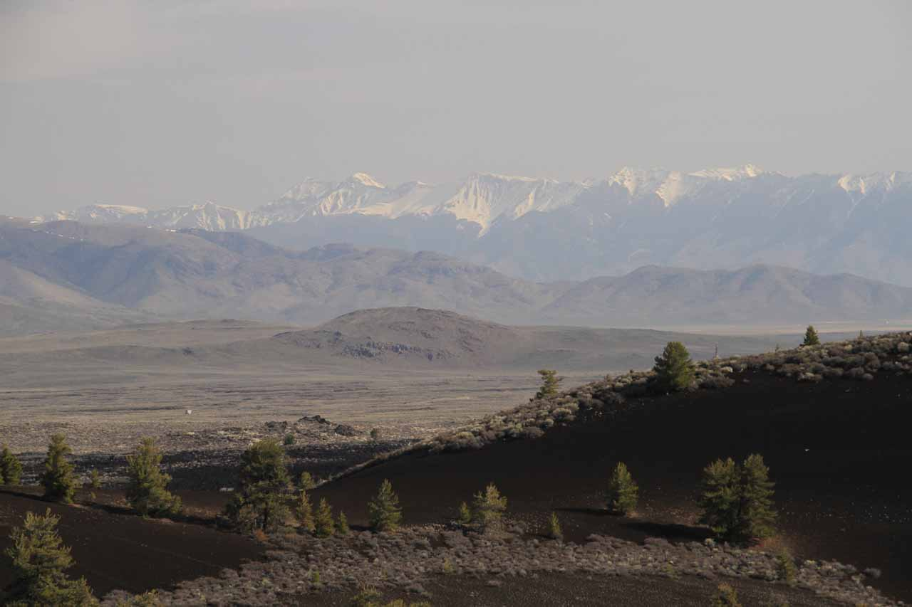 Had we gone west from Idaho Falls instead of north to the Mesa Falls Scenic Byway, we would have reached the Craters of the Moon National Monument, which was a desolate yet scenic place