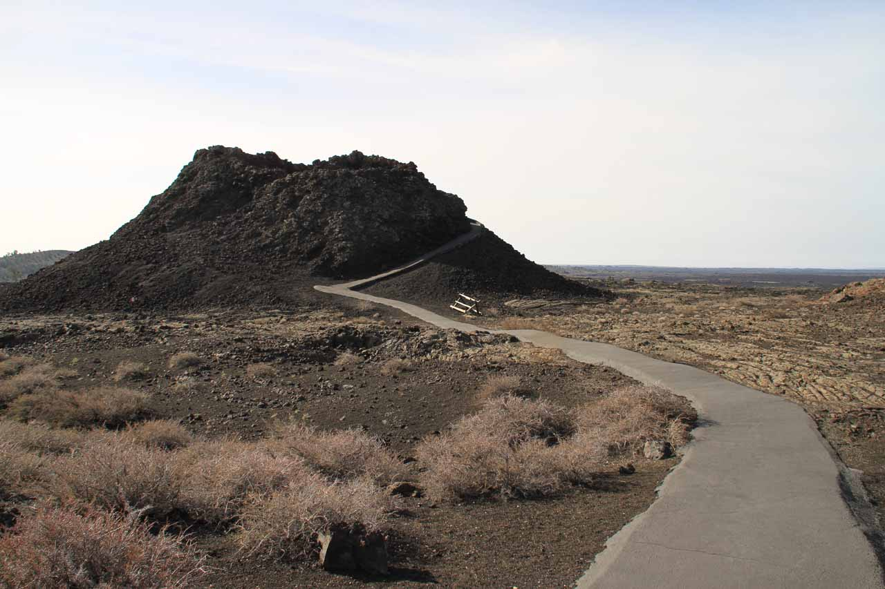 Pathway leading to one of the Splatter Cones