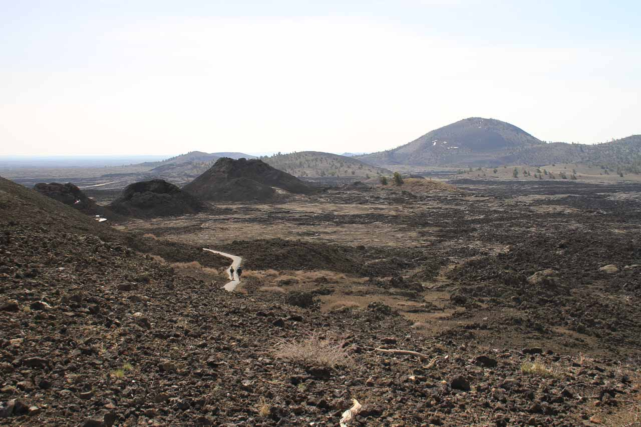 Idaho Falls to the west was a gateway to the desolate Craters of the Moon further to the west, which featured a strikingly bleak volcanic landscape in an area that may still be volcanically active