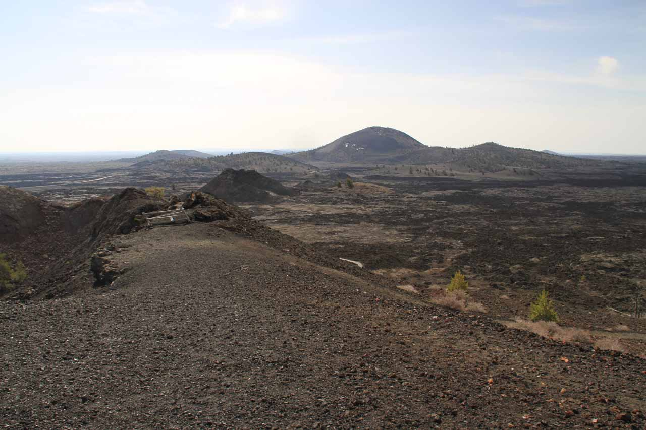 Looking towards the closed off part of the North Crater