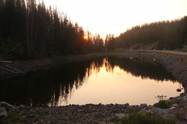 Crecelius_Cascade_014_08102017 - Looking across Eleanor Lake from near the foot of the Crecelius Cascade