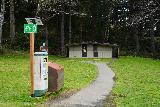 Crescent_Beach_002_04072021 - The pay and display parking machine backed by a toilet facility at Ecola State Park