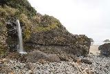 Crescent_Beach_201_04072021 - Broad view of the Crescent Beach Waterfall with the Crescent Beach hinted at to the right