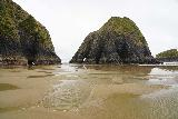 Crescent_Beach_224_04072021 - Getting closer to the pair of sea arches on the far southern side of Crescent Beach at low tide