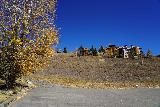 Crested_Butte_002_10162020 - Looking towards one of the few trees still holding onto its aspen leaves in the town of Mt Crested Butte