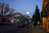 Crested_Butte_059_10162020 - Julie continuing to walk along Elk Avenue in Crested Butte in the twilight