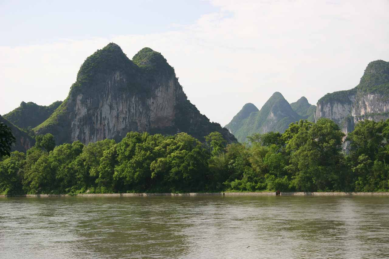 More views across the Li River towards more beautiful karst mountains