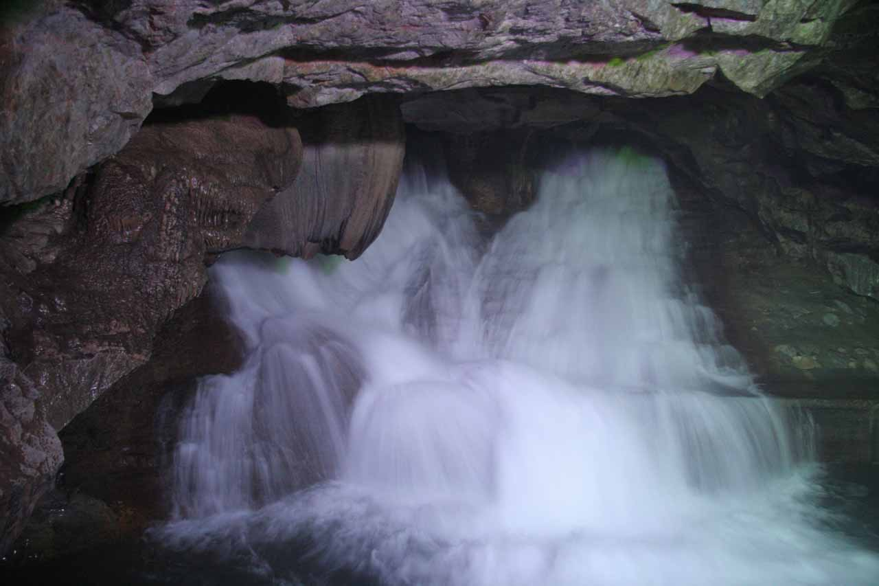 Crown Cave Waterfall