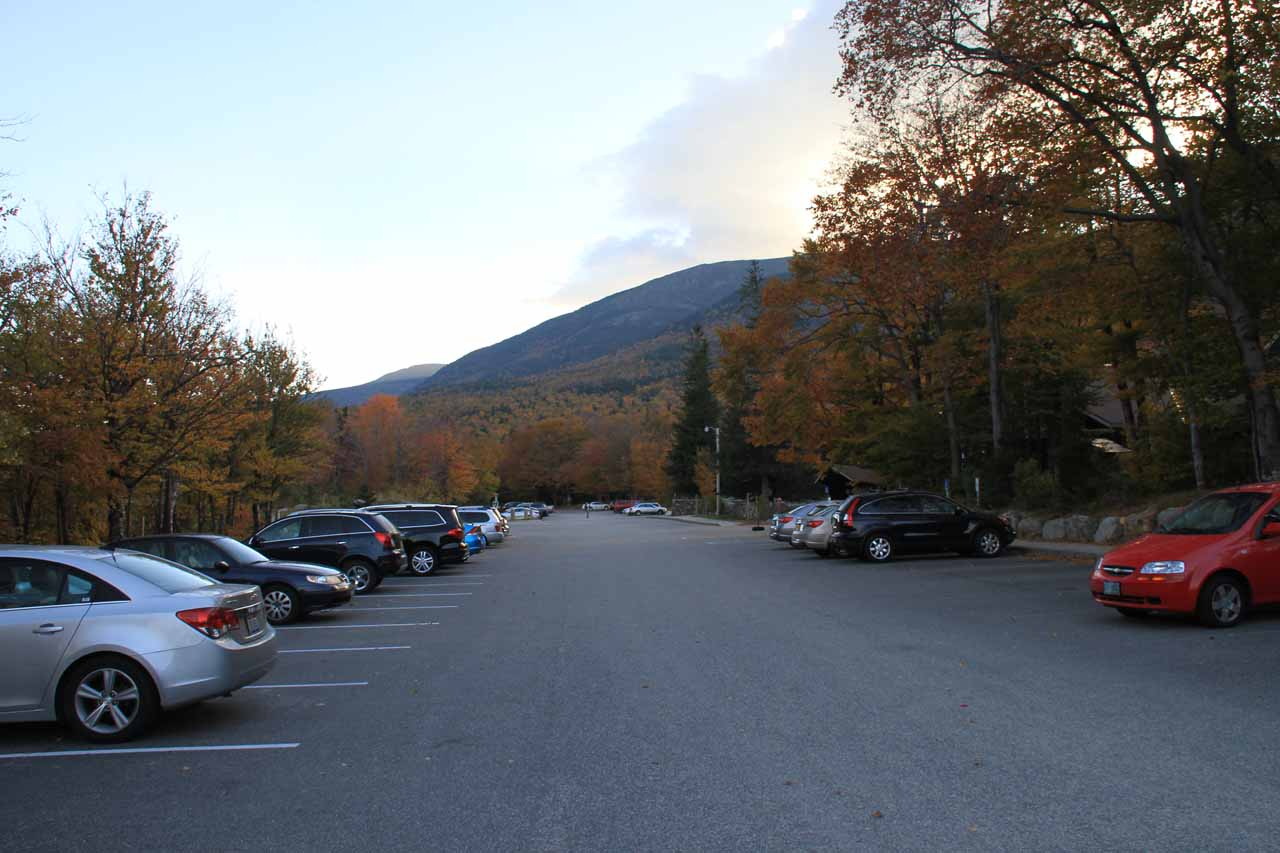 The car park at Pinkham Notch