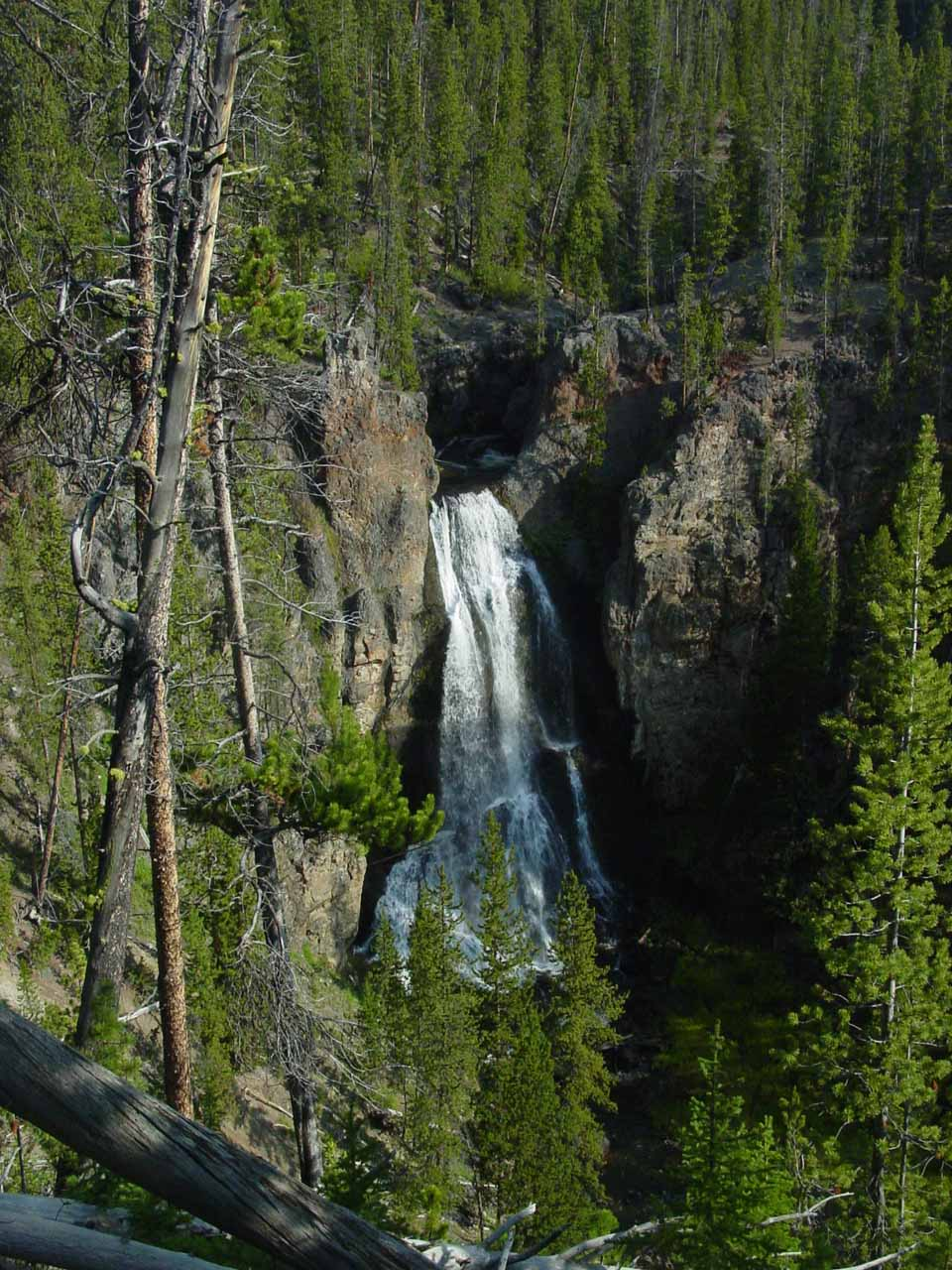 Yellowstone travel blog caught in the open in a for Crystal falls