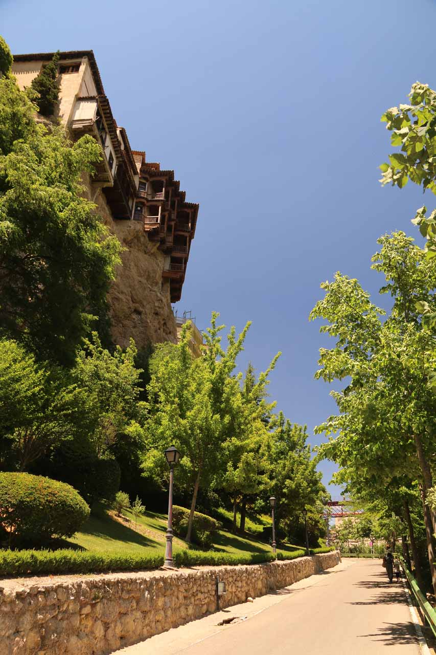 Walking closer to the Casas Colgadas (Hanging Houses) as we headed up to the Cuenca town center