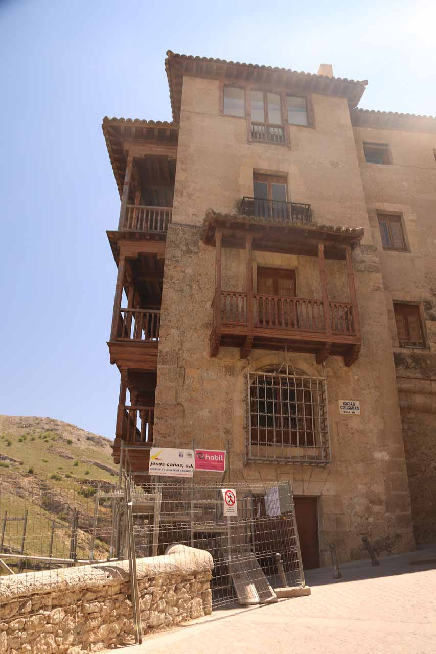 One of the Casas Colgadas though most of it was kind of ruined by scaffoldings and fences due to construction work