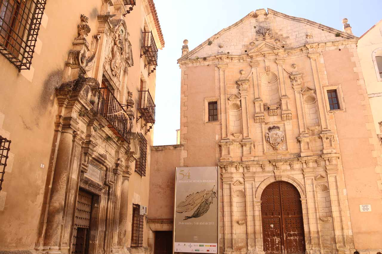 Fancy buildings at the Plaza de la Merced near the Torre Mangana