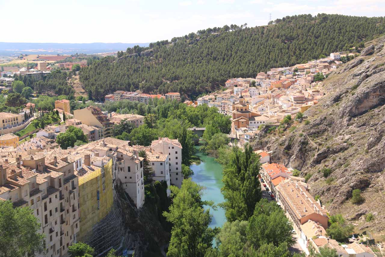 We visited the Cascada del Molino as part of a side trip on the way to Cuenca. That town had a rugged beauty to it (as shown here) as well as its historical charm in its Plaza Mayor and Casas Colgadas
