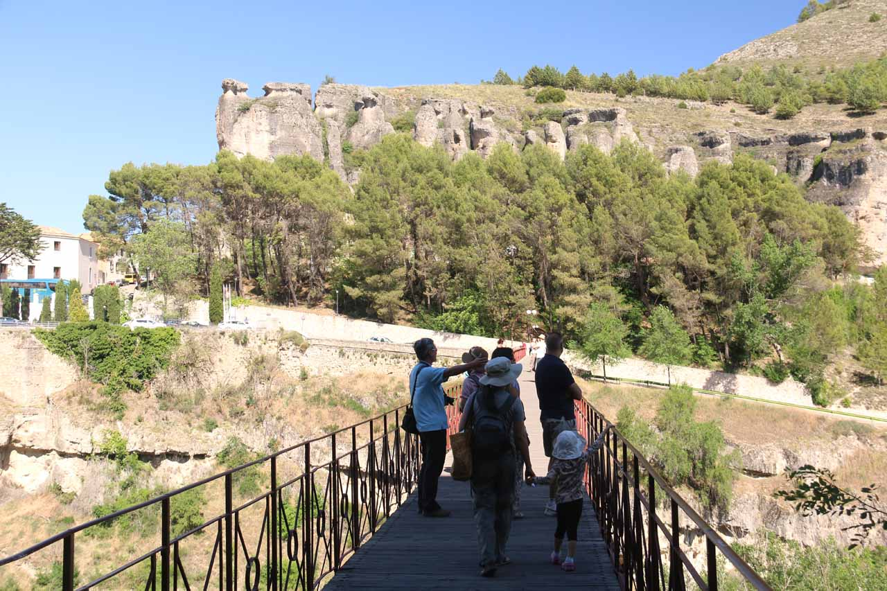 Walking across the bridge over the gorge where we could get a more level look at the Casas Colgadas de Cuenca