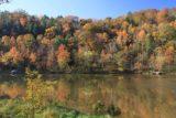Cumberland_Falls_002_20121021 - Looking across the Cumberland River reflecting beautiful Autumn colors as we walked towards the brink of Cumberland Falls