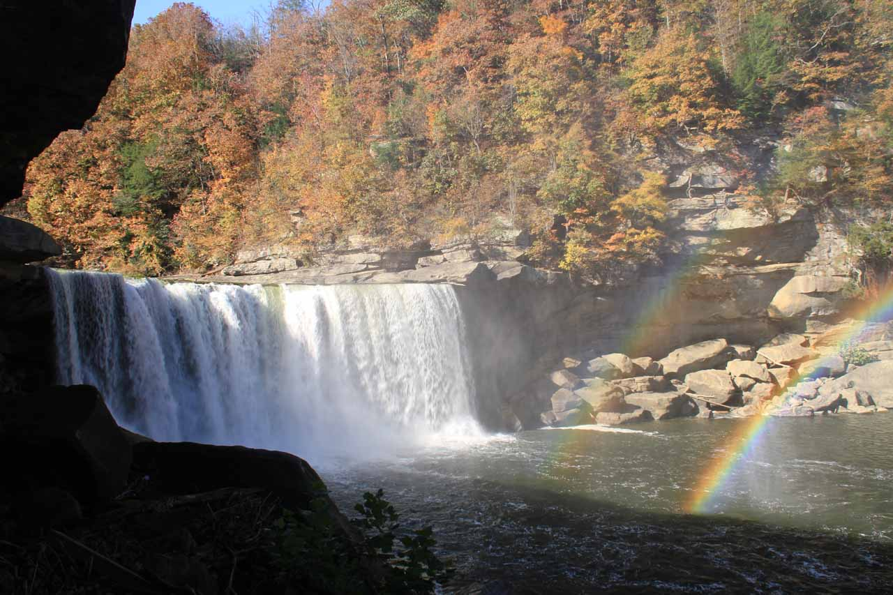 Cumberland Falls and double rainbow