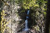 Curly_Creek_Falls_029_04052021 - Broad long-exposed look at Curly Creek Falls from the sanctioned lookout