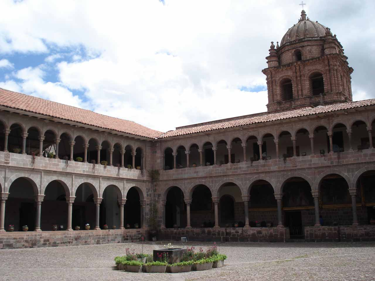 A plaza in the heart of Qorikancha in Cusco