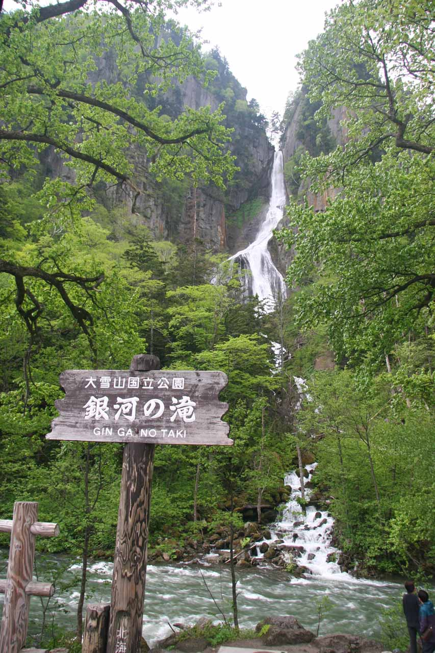 Signpost before the Ginga Waterfall