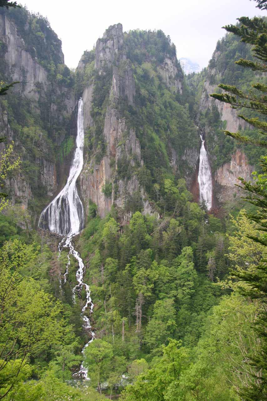 Ginga and Ryusei Falls