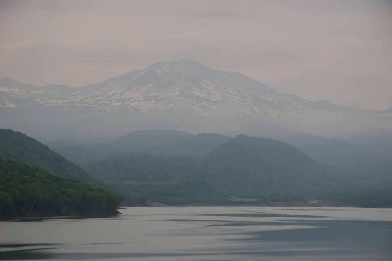 As we were driving back towards Asahikawa, we got this nice view over a lake