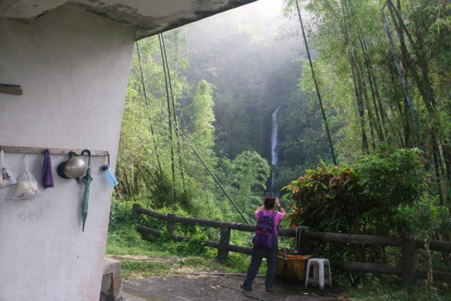 Dajin_Waterfall_080_10292016 - Mom checking out the Dajin Waterfall from the lookout shelter