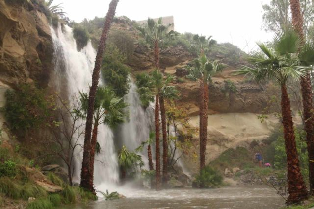 Dana_Point_Waterfall_019_01222017 - The gushing Dana Point Waterfall in rare form as it was pumping under the heavy rain