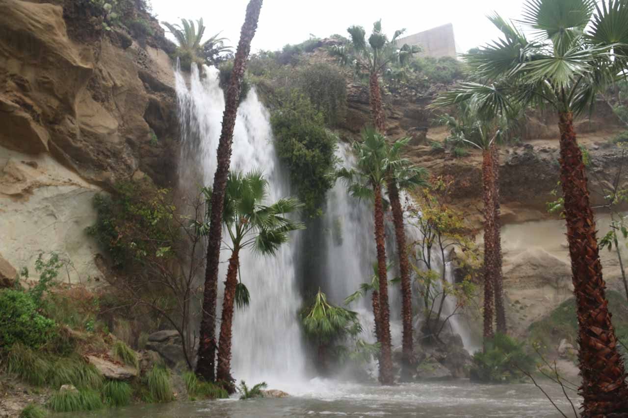 The Dana Point Waterfall in rare gushing form