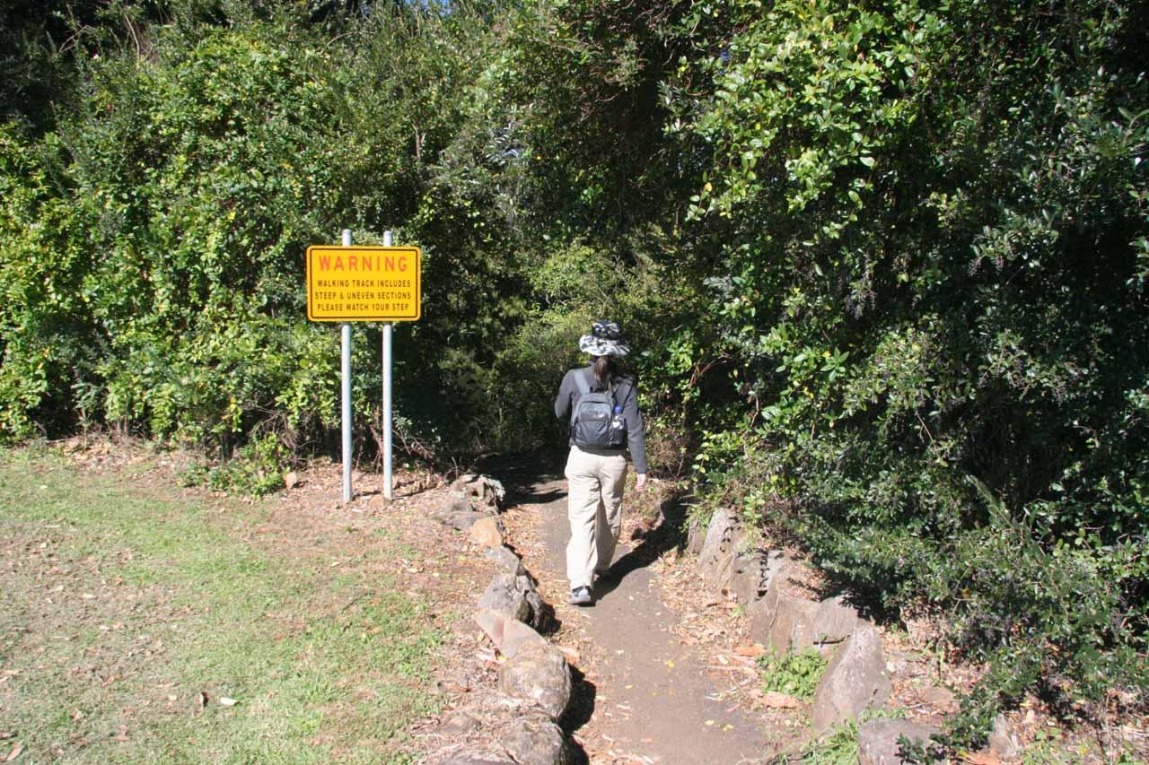 Julie headed to the base of Dangar Falls