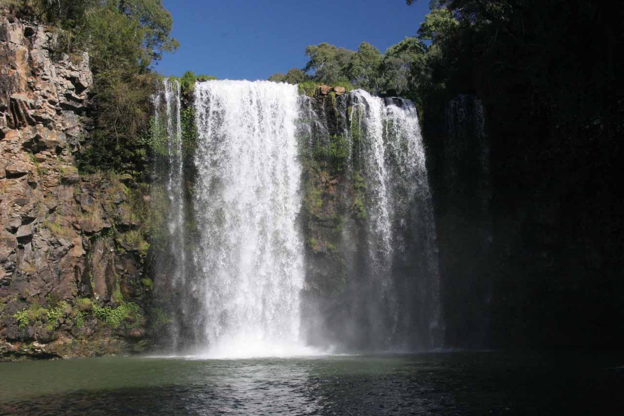 Frontal view of Dangar Falls
