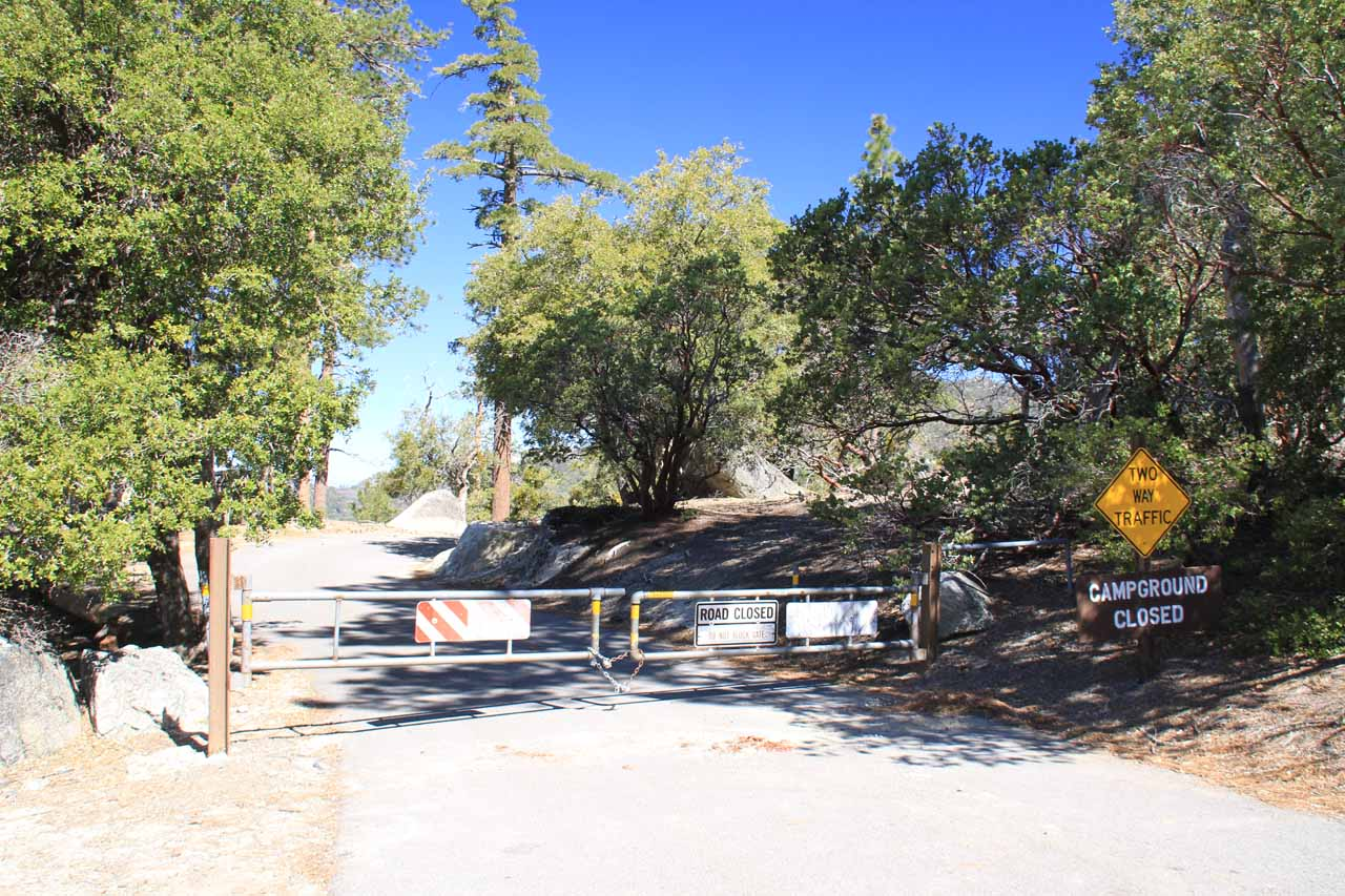 Dark Canyon closure gate