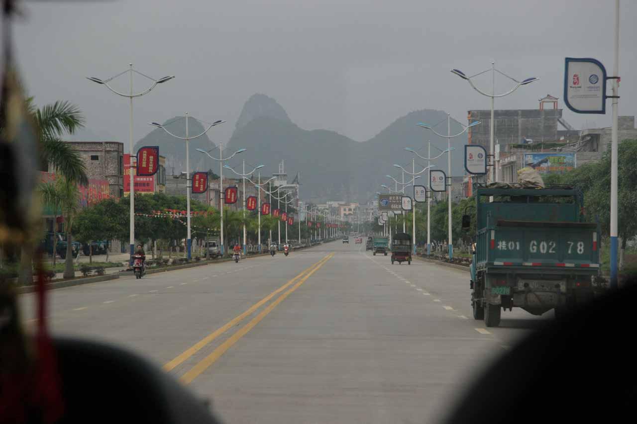 Passing through Daxin