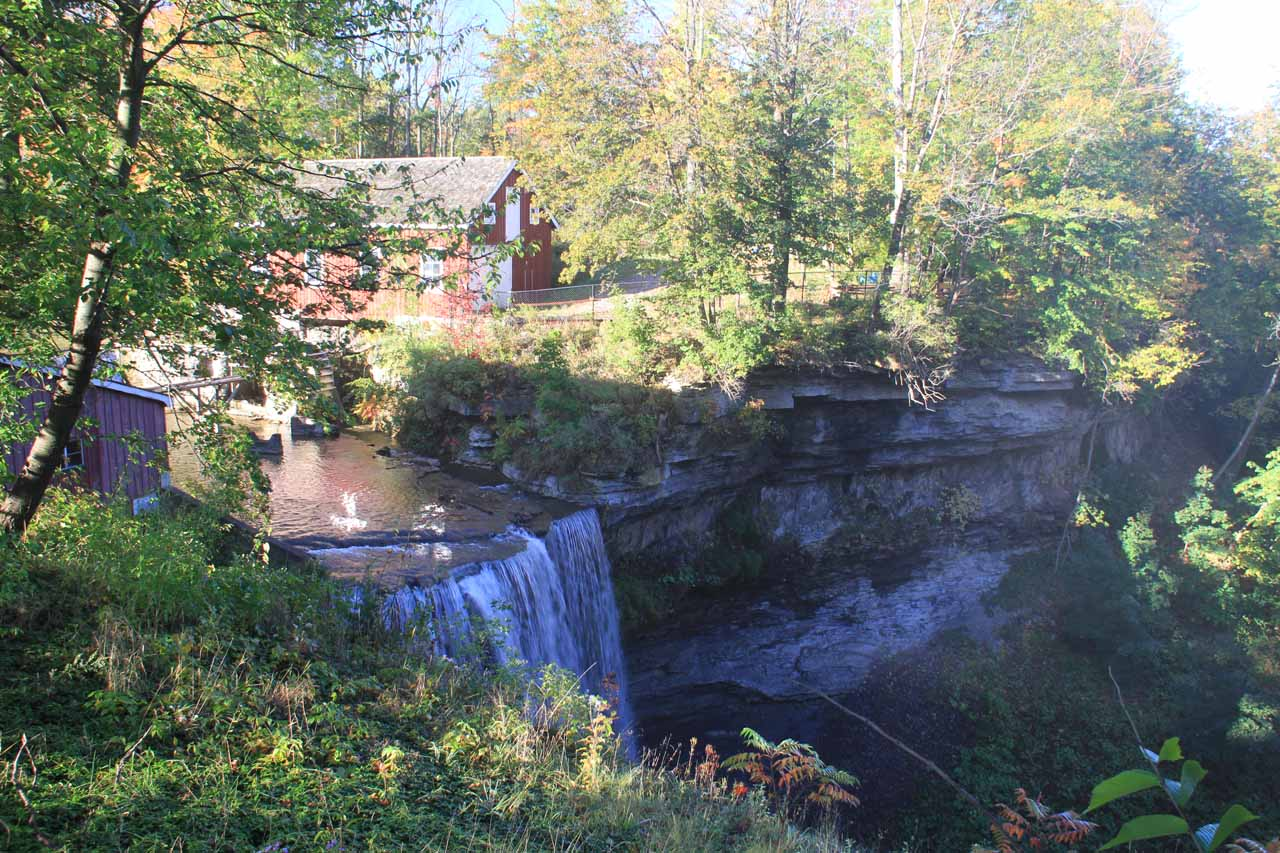 This was the view of DeCew Falls from the Morningstar Mill Complex