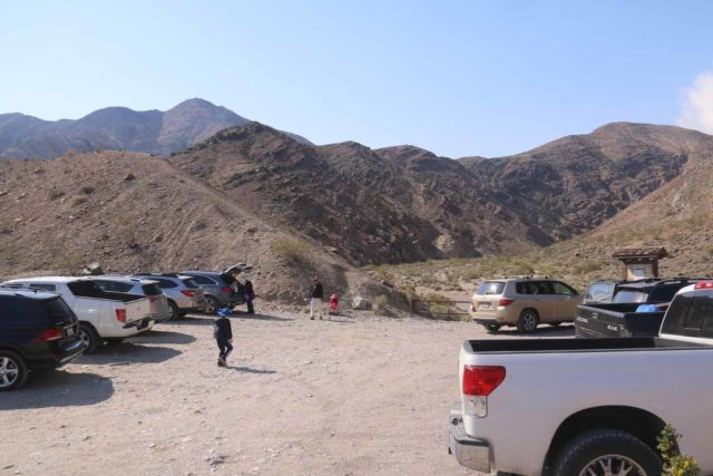 Death_Valley_17_009_04082017 - The parking area at the trailhead for Darwin Falls