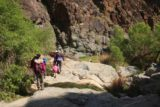 Death_Valley_17_156_04082017 - The family scrambling back downstream as we left Darwin Falls