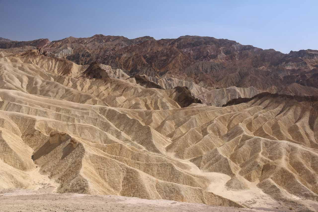 The badlands of Zabriskie Point in Death Valley