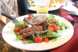 Death_Valley_17_441_04092017 - Julie's steak salad at the Saloon Restaurant at Stovepipe Wells