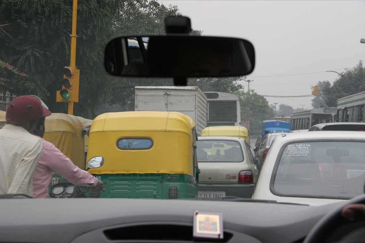 More chaotic Delhi Traffic