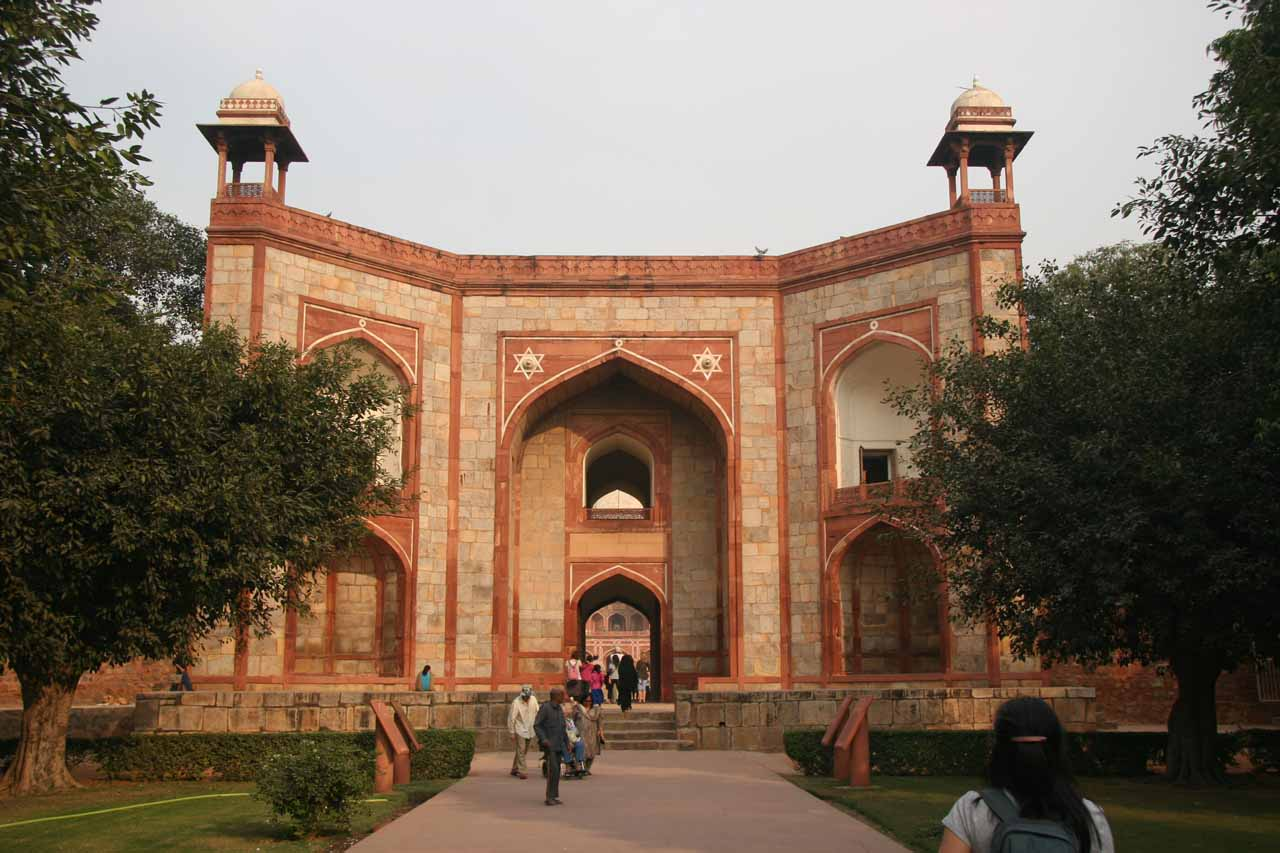 Entering Humayun's Tomb Complex