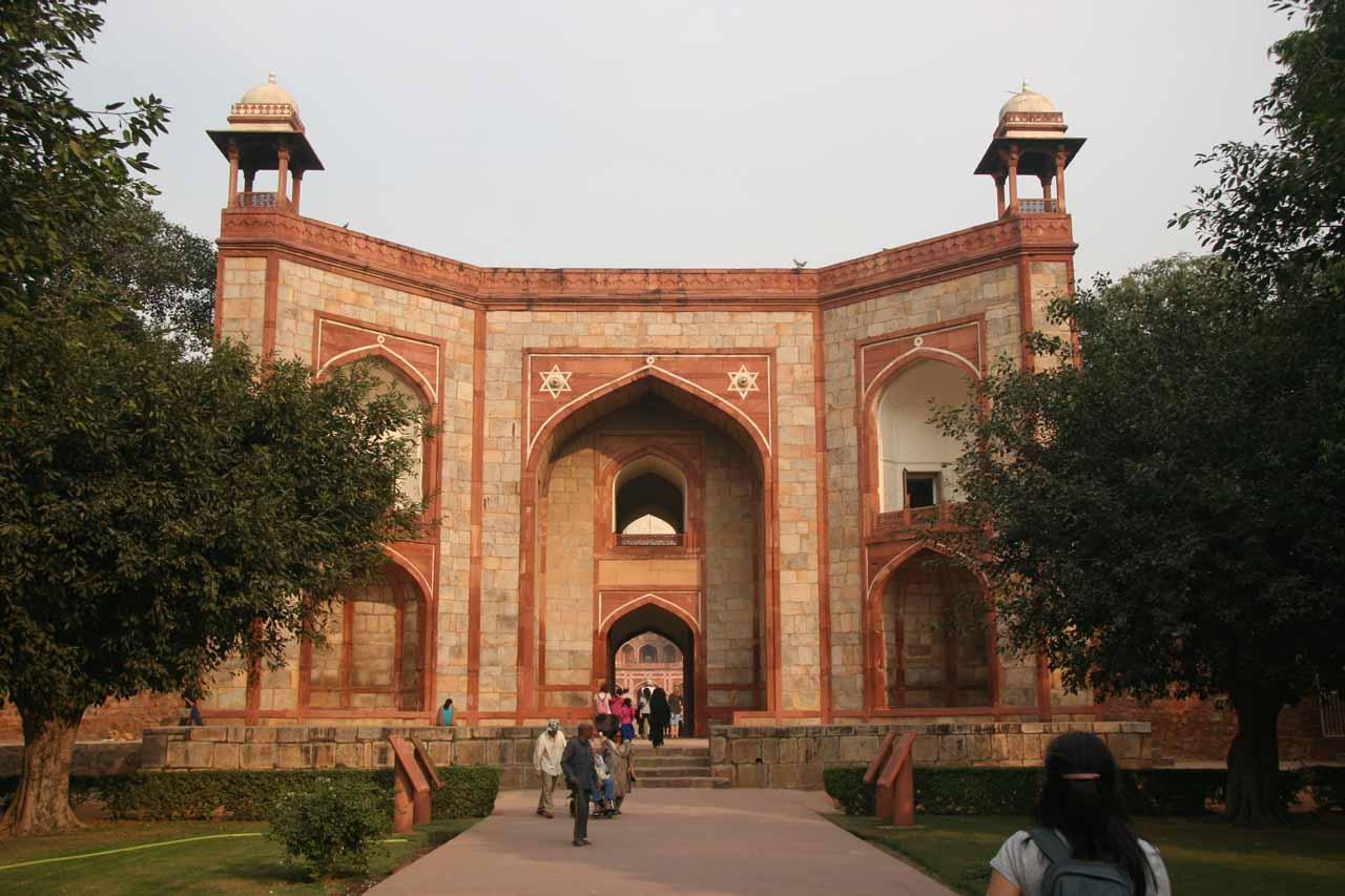 Entering Humayun's Tomb Complex