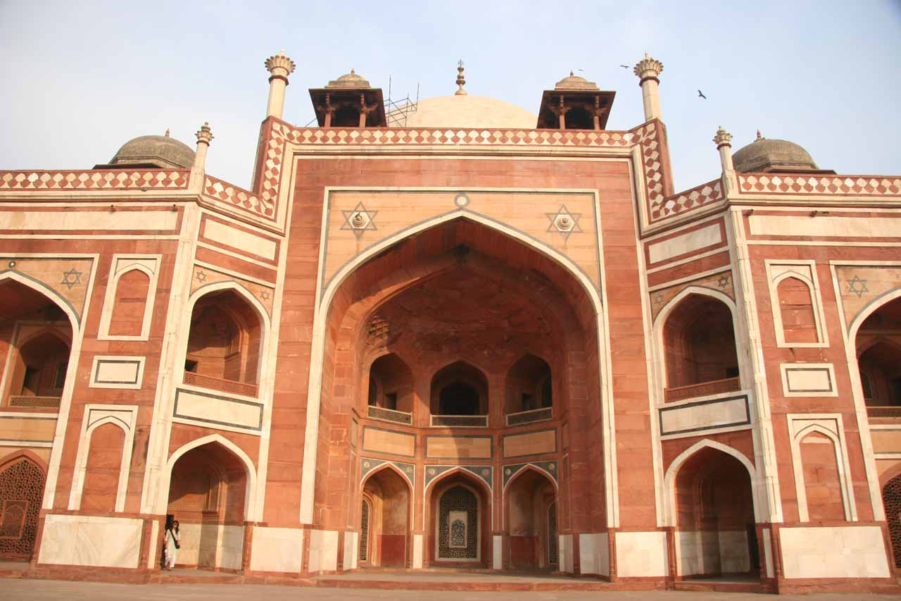 Right in front of Humayun's Tomb