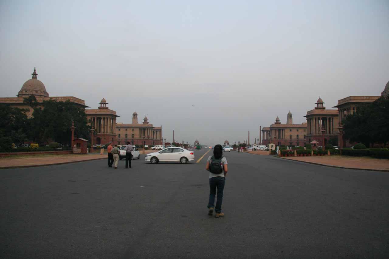 In the governmental area of Delhi