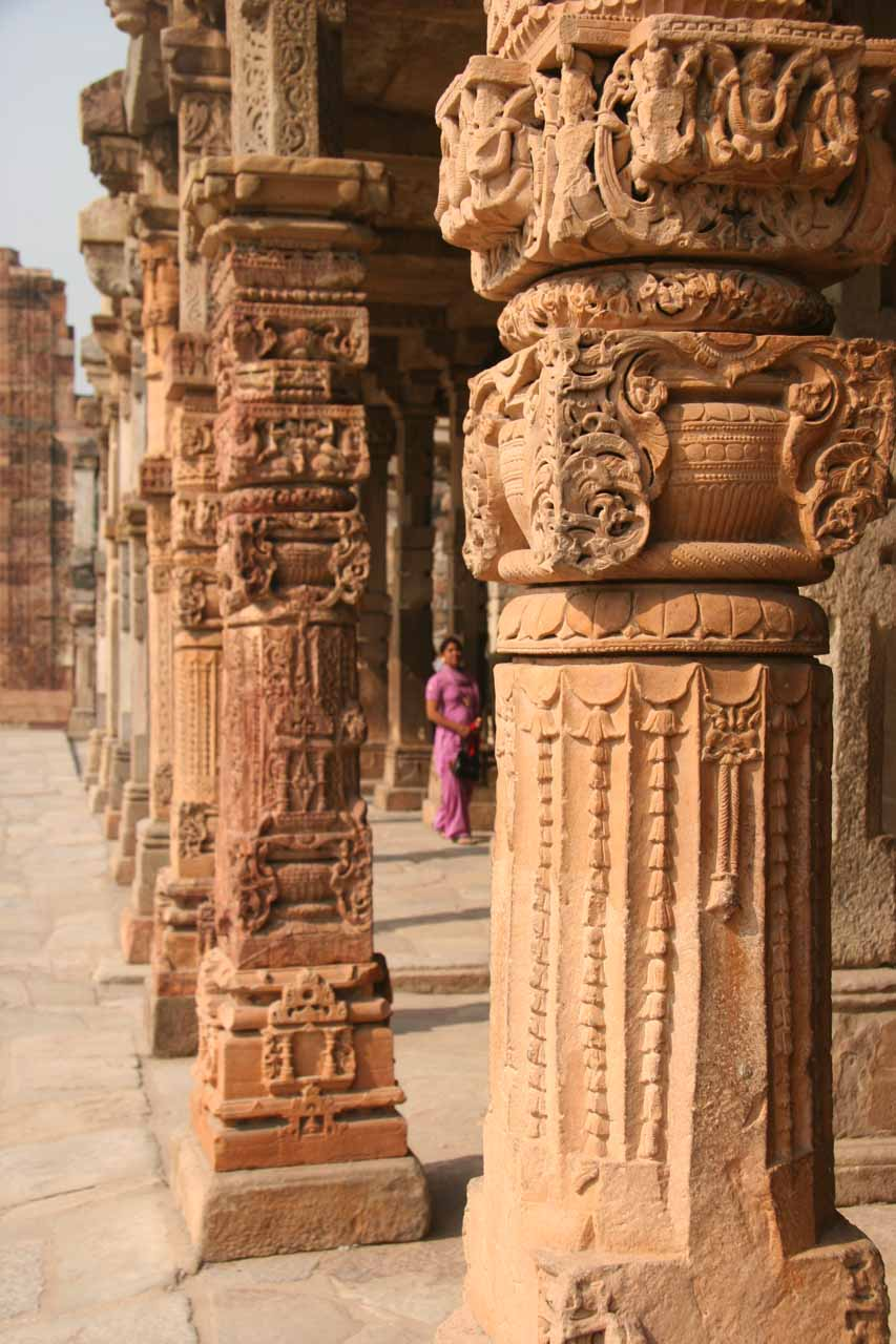More ornate columns from within the Qutb Minar complex
